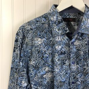 SAND Copenhagen Men's Paisley Long Sleeve Shirt